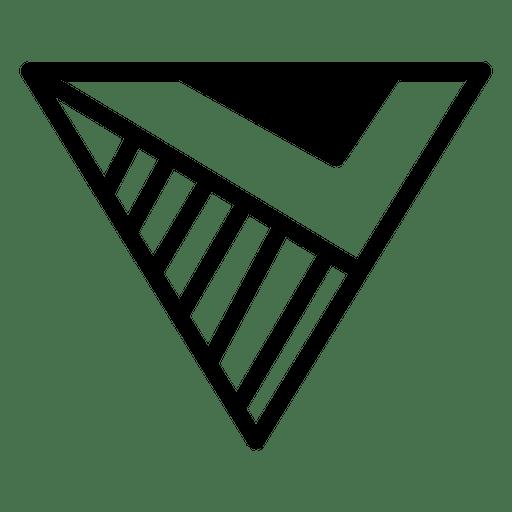 Logo geometric polygonal triangle template