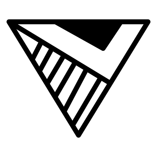 Plantilla geométrica triángulo poligonal logo Transparent PNG