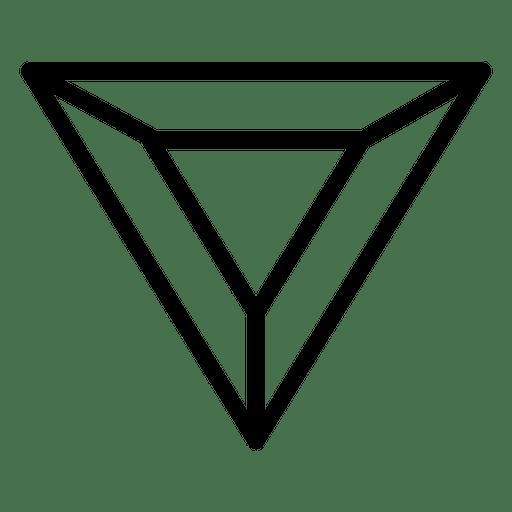 Geometric logo triangle polygonal