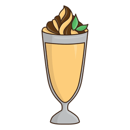 Milkshake caramel dessert