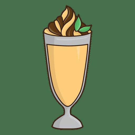 Milkshake caramel dessert Transparent PNG