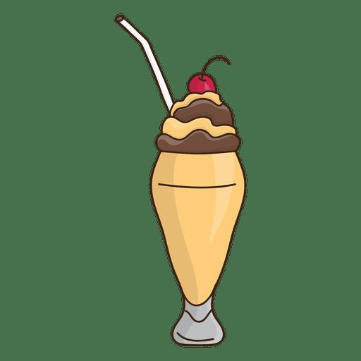 Milkshake caramel dessert illustration