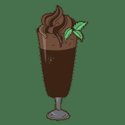 Milkshake chocolate dessert