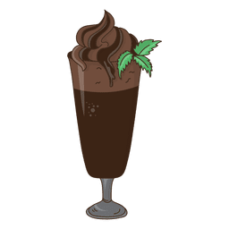 Postre de chocolate batido de leche