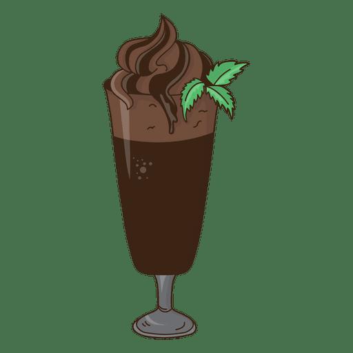 postre de chocolate batido de leche Transparent PNG