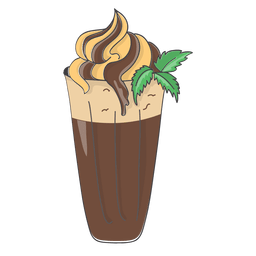 Postre de chocolate y plátano batido