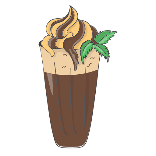 Milkshake banana chocolate dessert Transparent PNG