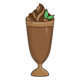 Ilustración de postre batido de chocolate