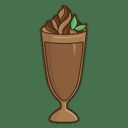 Milkshake chocolate postre ilustración