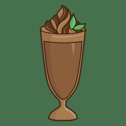 Ilustração de sobremesa de chocolate batido Transparent PNG
