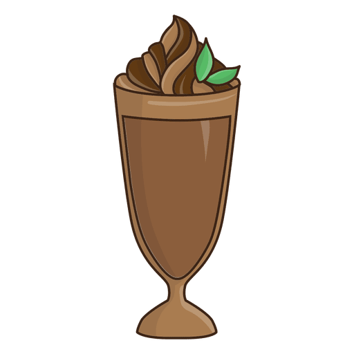 Milkshake chocolate dessert illustration Transparent PNG