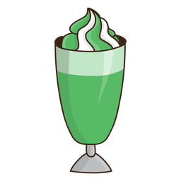 Milkshake mint dessert