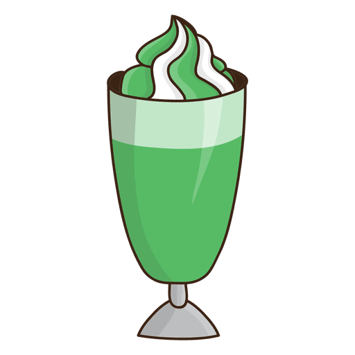 Milkshake mint dessert Transparent PNG