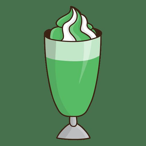 Sobremesa de menta batido Transparent PNG