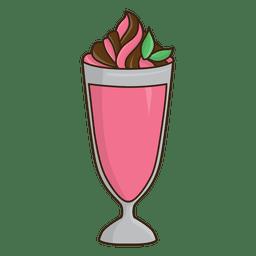 Milchshake Erdbeer- und Schokoladennachtisch
