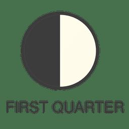 Icono del primer cuarto de la luna