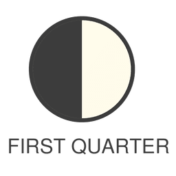 Moon first quarter icon