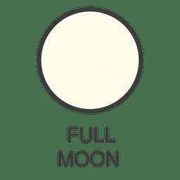 Lua cheia ícone da lua