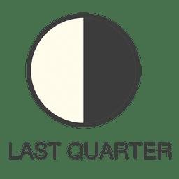 Icono del último cuarto de la luna