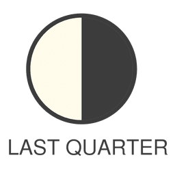 Moon last quarter icon