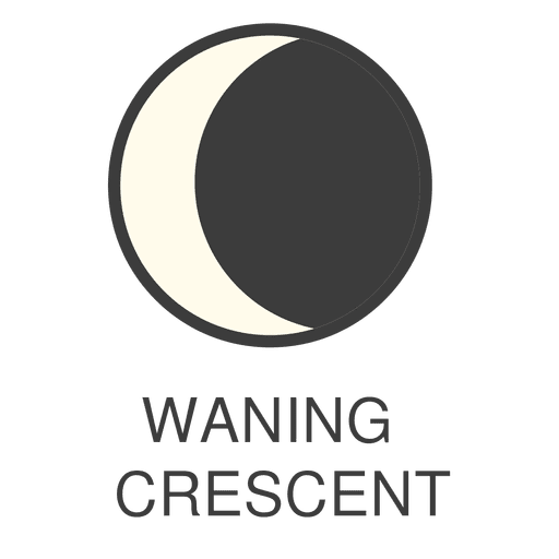 Moon waning Crescent icon Transparent PNG