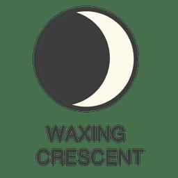 Icono de luna creciente de cera