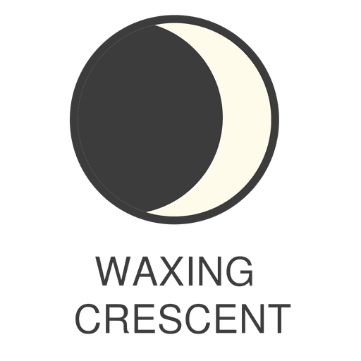 Moon waxing crescent icon Transparent PNG