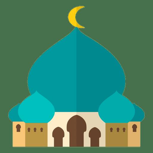 Mezquita islam plana Transparent PNG
