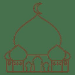 Icono de la mezquita islam trazo