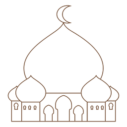 Mosque islam stroke icon