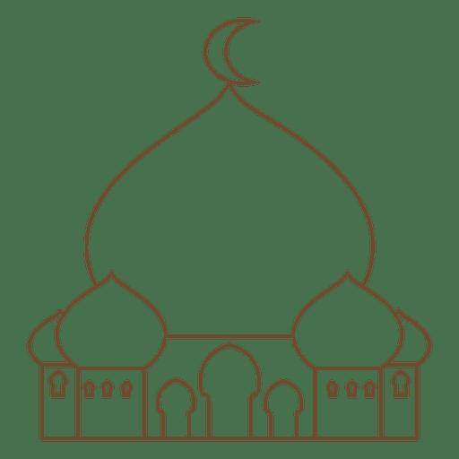 Icono de la mezquita islam trazo Transparent PNG