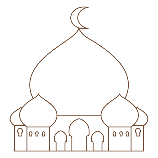 Mosque islam stroke icon Transparent PNG