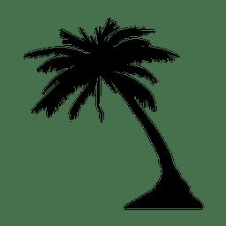 Palma silueta de la palmera