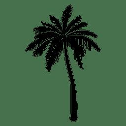 Silueta de la palmera en negro