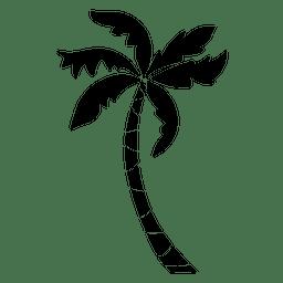 Palma de silhueta de palmeira