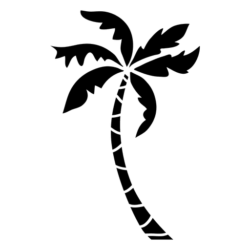 Palm tree silhouette palm Transparent PNG