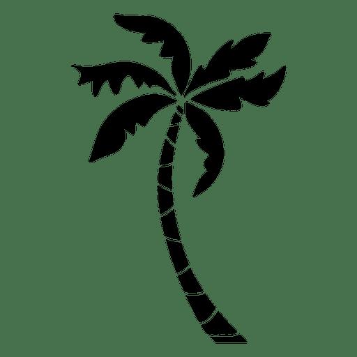 Palma de silhueta de palmeira Transparent PNG