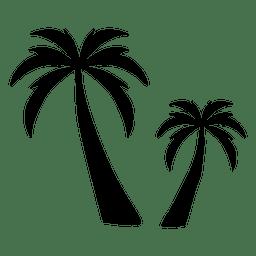 Palma de silhueta de palmeira dois