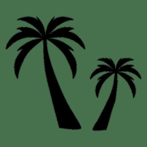 Dos palmeras silueta palmera Transparent PNG