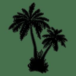 Palm palm tree silhouette