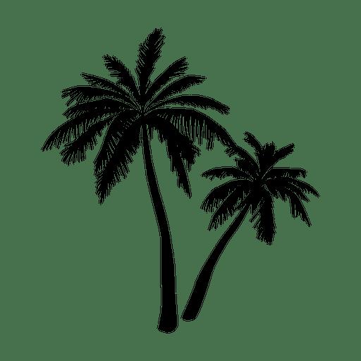 Silhueta preta da palmeira - Baixar PNG/SVG Transparente
