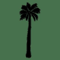 Ilustração alta da silhueta da palmeira
