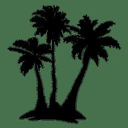 Silhueta complexa de palmeira