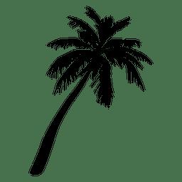 Ilustração de árvore de palma