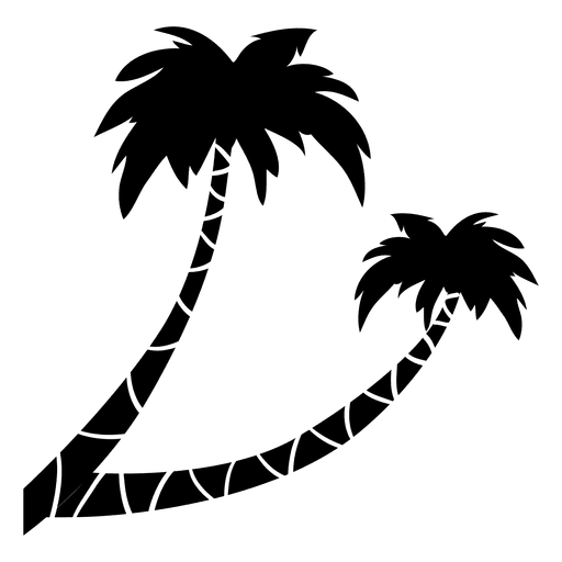 Two palm tree silhouette Transparent PNG