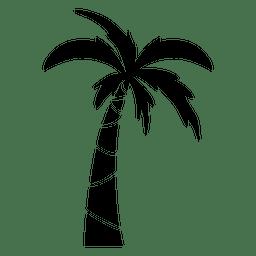 Palmera con silueta de hojas