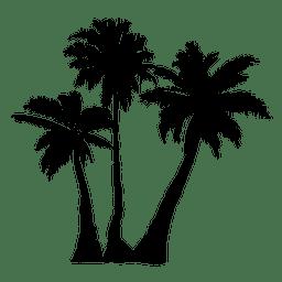 Palma silueta de la palmera árbol