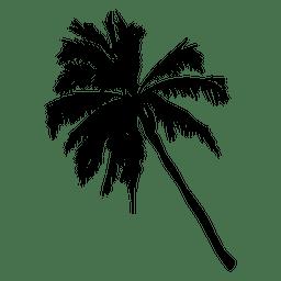 Silhueta da palmeira da frente