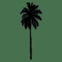 Silueta recta de pie palmera