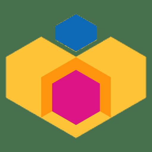 Polygonal geometric abstract logo
